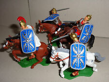 Mounted ROMANS Red tunics Blue Shields ARGENTINA DSG Plastic Soldiers Britains