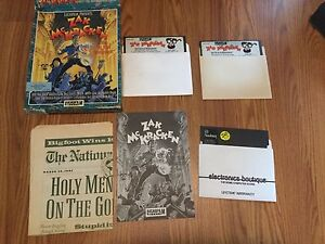 Zak-McKracken-and-the-Alien-Mindbenders-Commodore-64-1988-Game-Box-Newspaper
