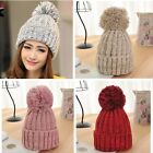 Winter Warm Women Lady Crochet Ski Cap Beret Beanie Bobble Wool Knit Crochet Hat
