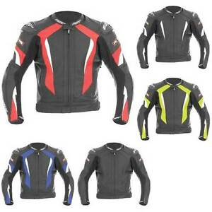 RST R16 R-16 Leather Sports Motorcycle Motorbike Jacket | All Colours & Sizes