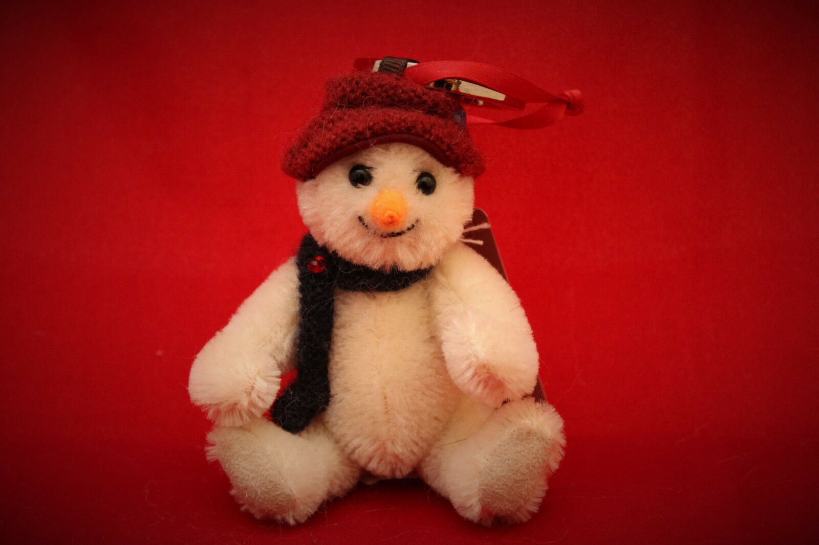 Charlie Bears Shiver Snowman Keyring   Tree Ornament