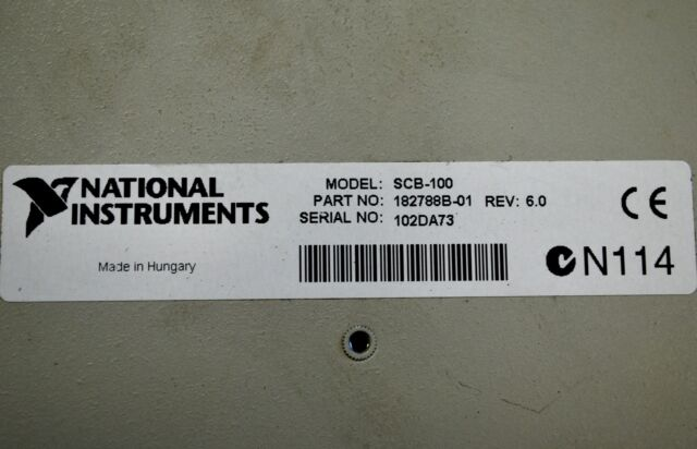 1 National Instruments Scb-100 SCB100 Shielded Connector Block for sale online