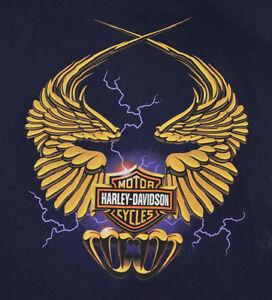 Buddy Stubbs Harley Davidson Phoenix Arizona T-shirt Adult Size Xl Navy Blue