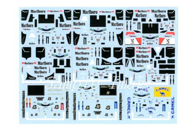 Kyosho 1/64 AYRTON SENNA sticker Decal 97T 98T MP4/8 MP4/7 99T Marlboro CAMEL