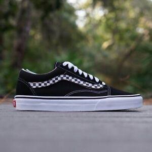 99f0dd0f00 Vans Old Skool Sidestripe V Black True White Men s Classic Skate ...