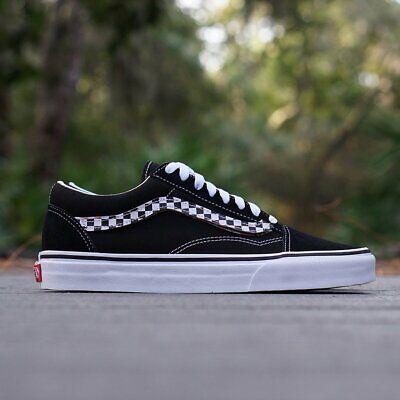 Vans Old Skool Sidestripe V BlackTrue White Men's Classic Skate Shoes Size 10 192360730687 | eBay