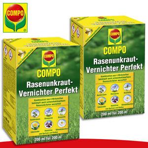 COMPO-2-x-200-ml-Rasenunkraut-Vernichter-Perfekt-Sauerklee-Loewenzahn-Ehrenpreis