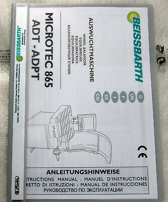 Amabile Manuale D'uso Beissbarth Tagliera Microtec 865 Adt-adpt-itung Beissbarth Auswuchtmaschine Microtec 865 Adt-adpt It-it