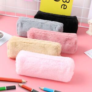 Sac-Trousse-en-Peluche-Scolaire-Poche-Stylo-Crayon-Cosmetique-Zippe-Cadeau