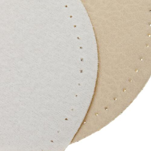 1 Pair Decorative Elbow Knee Sew on Leather Patches for Repair Sewing Beige