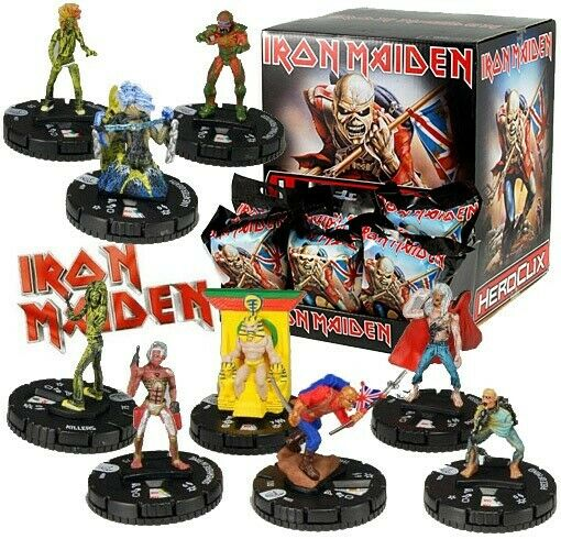 IRON MAIDEN - 2013 HeroClix by Wizkids full 9 piece set New