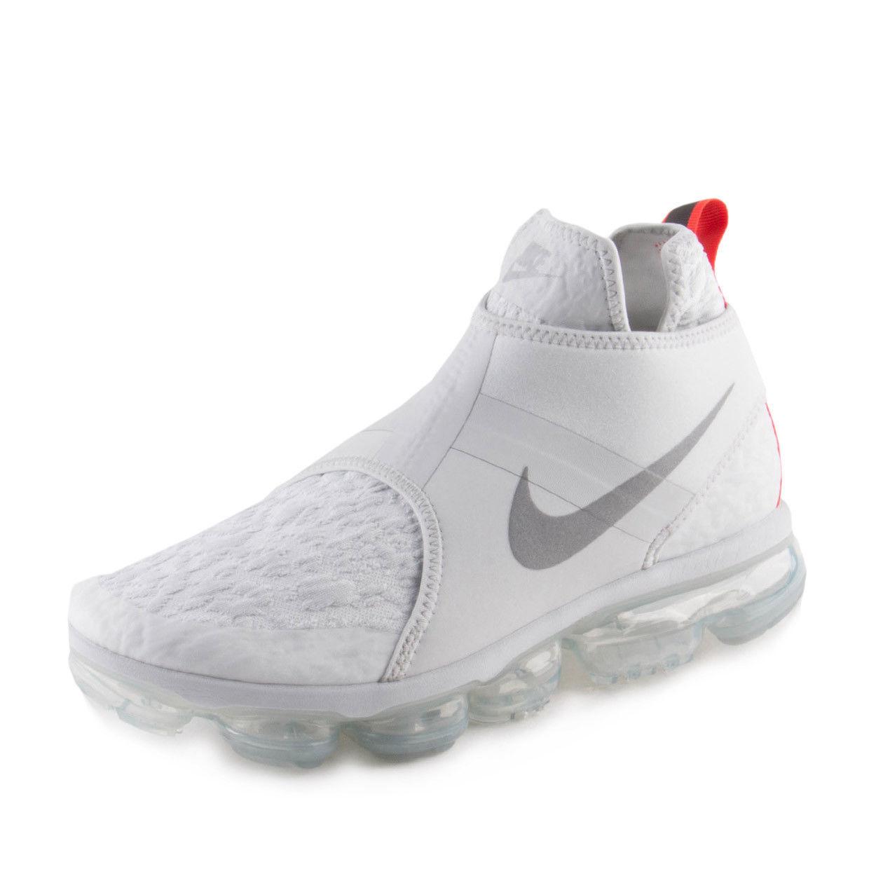 Nike Air Vapormax Chukka Slip size 9.5. White Pure Platinum Silver. AO9326-001.