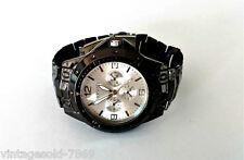 New Stylish  Wrist Watch for Men Black Strap & White Dial