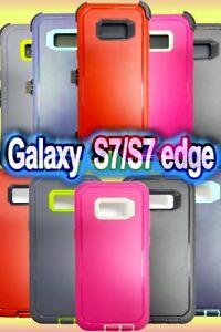 Galaxy S7/S7 Edge Hybrid Shockproof Hard Heavy Duty cover Case robot Defender
