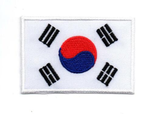 South Korea Korean Asia Flag National P417 Embroidered Ironon Patch High Quality