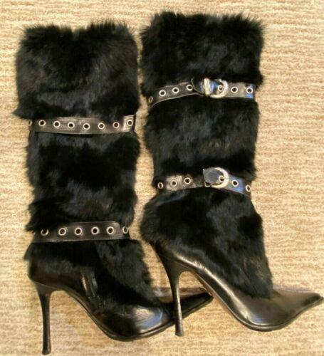 All Leather EL DANTES KNEE HIGH BLACK  BOOTS Sz 39