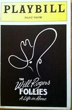 Playbill The Will Rogers Follies Mac Davis Marla Maples  Eden Riegel  Tommy Tune
