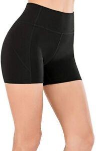 Ladies-Stretchy-Short-Hip-Gym-Athletic-Running-High-Waist-Yoga-Shorts-for-Womens