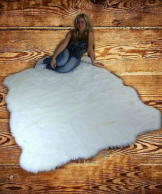 Verstandig Fur Accents Faux Fur Sheepskin Area Rug Random Shape Off White Shag All Sizes
