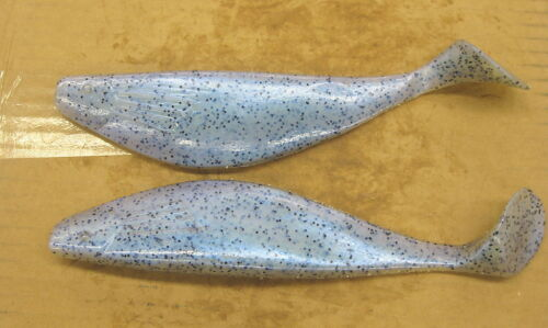 """9/"""" Shad Paddle Tail Swimbait great for Umbrella Rig 6 Cnt Bag Blue Pearl Pepper"""