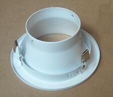 4 INCH 120V R20 / PAR20 RECESSED LIGHT WHITE SMOOTH REFLECTOR OPEN TRIM BAFFLE