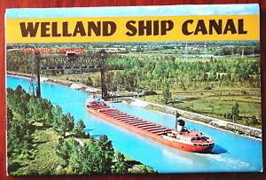 Welland Ship Canal, Ontario, Canada Vintage Fold-out Colour Photograph Set