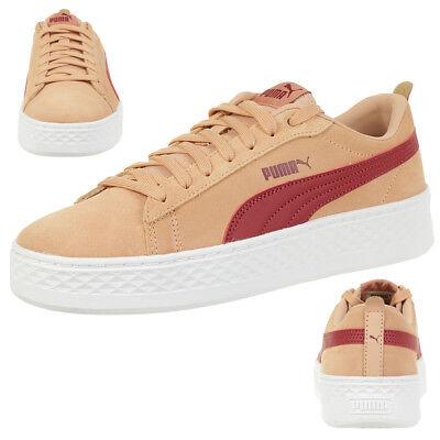 Puma Smash Platform SD leather Sneaker Damen Schuhe 366488 05 rosa | eBay