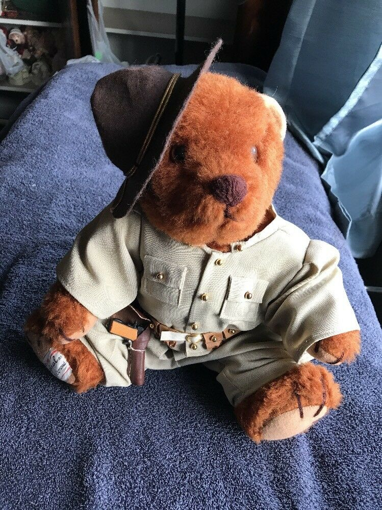 US Army Teddy Bear Original Hand Made By Cinda McClymond w/Articulating Limbs
