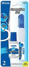 Metal Tip Correction Pen Amp Correction Fluid W Bristle Brush 2 Pack Set