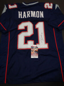 newest collection 9b961 770ac Details about Duron Harmon New England Patriots Autographed Custom Style  dark Jersey JSA COA