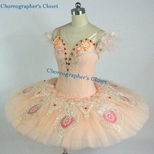 Image is loading Professional-Peach-Lace-Princess-Aurora-Sugar-Plum-Fairy- & Professional Peach Lace Princess Aurora Sugar Plum Fairy Ballet Tutu ...