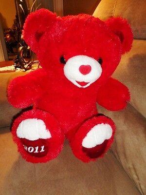 f16ca6ea Bear Red teddy soft stuffed plush velvet heart shaped nose Valentine Dan  Dee | eBay