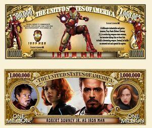IRON MAN BILLET MILLION DOLLAR ! Marvel Avengers Super Hero Stan Lee Comics Film