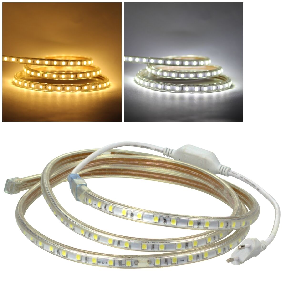 (11,98   m) 5m LED stripe 230v regulable  ultra-Bright  SMD luz-tiras flexibles