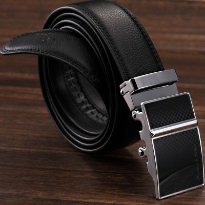 Men/'s Dress Leather Automatic Belt with Auto Lock Sliding Buckle Up to 41 inches