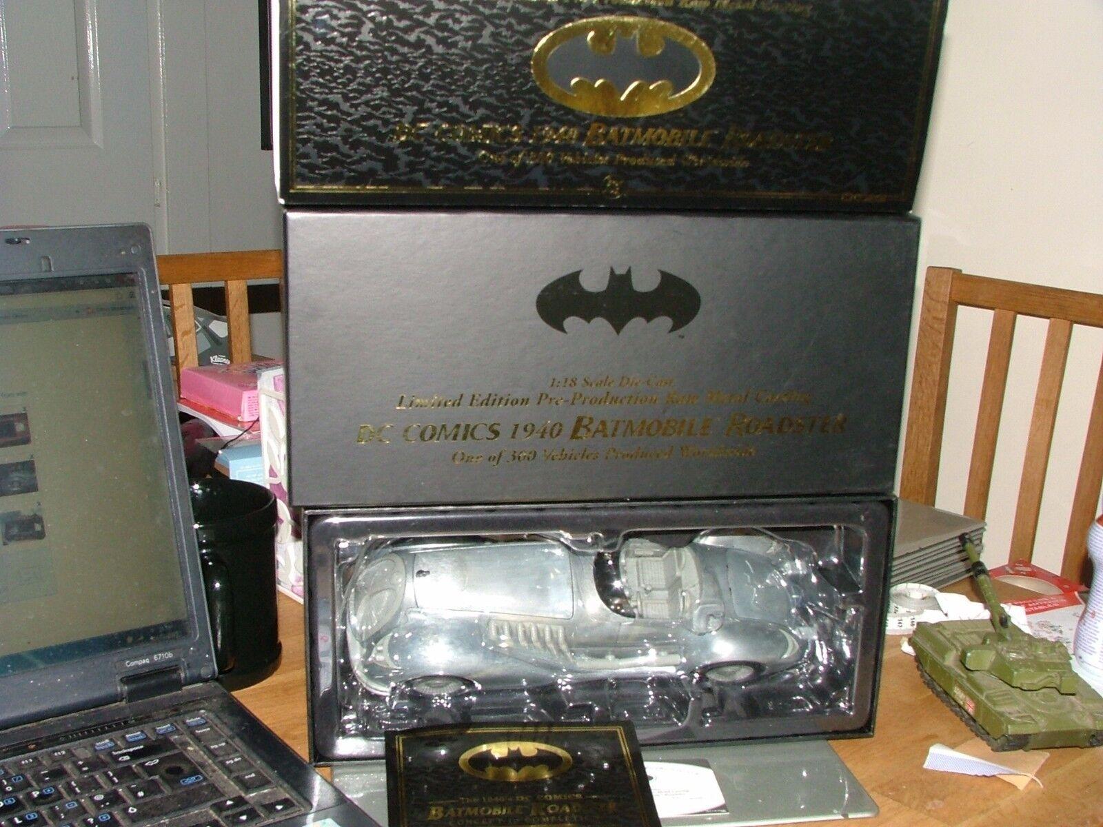 Corgi us77609 dc comics 1940 batman batmobile pre-production 300 worldwide mint