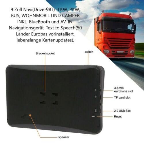 WOMO BUS GPS Navigationsgerät navi mit TMC funktion .Radar BT 9 Zoll LKW PKW