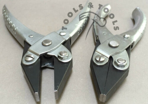 2 Piece Set Parallel Action 140 /& 125 mm Smooth Flat Nose Pliers Jewelry Crafts