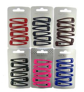 6-x-cheveux-Snap-CLIPS-barrettes-glissieres-4-5cm-ECOLE-COULEURS-choix