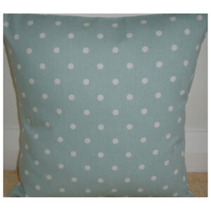 NEW-16-034-Cushion-Cover-Duck-Egg-Blue-White-Polka-Dots-Spots-Nursery-Bedroom
