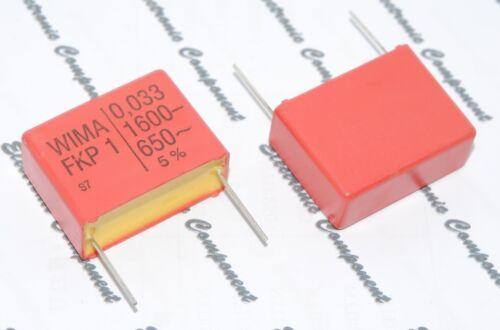 WIMA FKP1 0.033uF 0.033µF 33nF 0,033uF 2pcs 1600V 5/% pich:27.5mm Capacitor