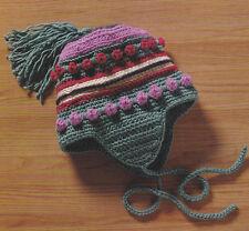 Crochet Pattern ~ KIDS WINTER HELMET HAT ~ Instructions