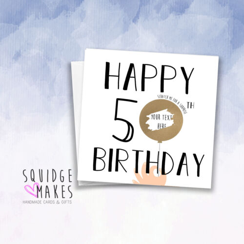 Scratch off card Personalised 30th Birthday Scratchcard Gift Surprise Reveal