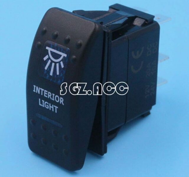 H-Q ARB STYLE INTERIOR LIGHT ROCKER SWITCH BLUE LED BACKLIT 4X4 4WD 12V SWITCH