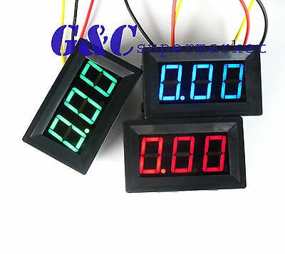 2PCS Green LED Panel Meter Mini Digital Voltmeter DC 0V To 30V NEW GODD M15
