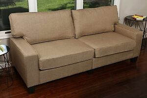 Home Life Upholstered Sofa Linen 2 Person Love Seat Contemporary Pocket Coil 61/""