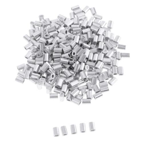 100x Quetsch-Hülsen Sicherheits Quetschhülsen Crimphülsen Klemmhülsen 1 mm