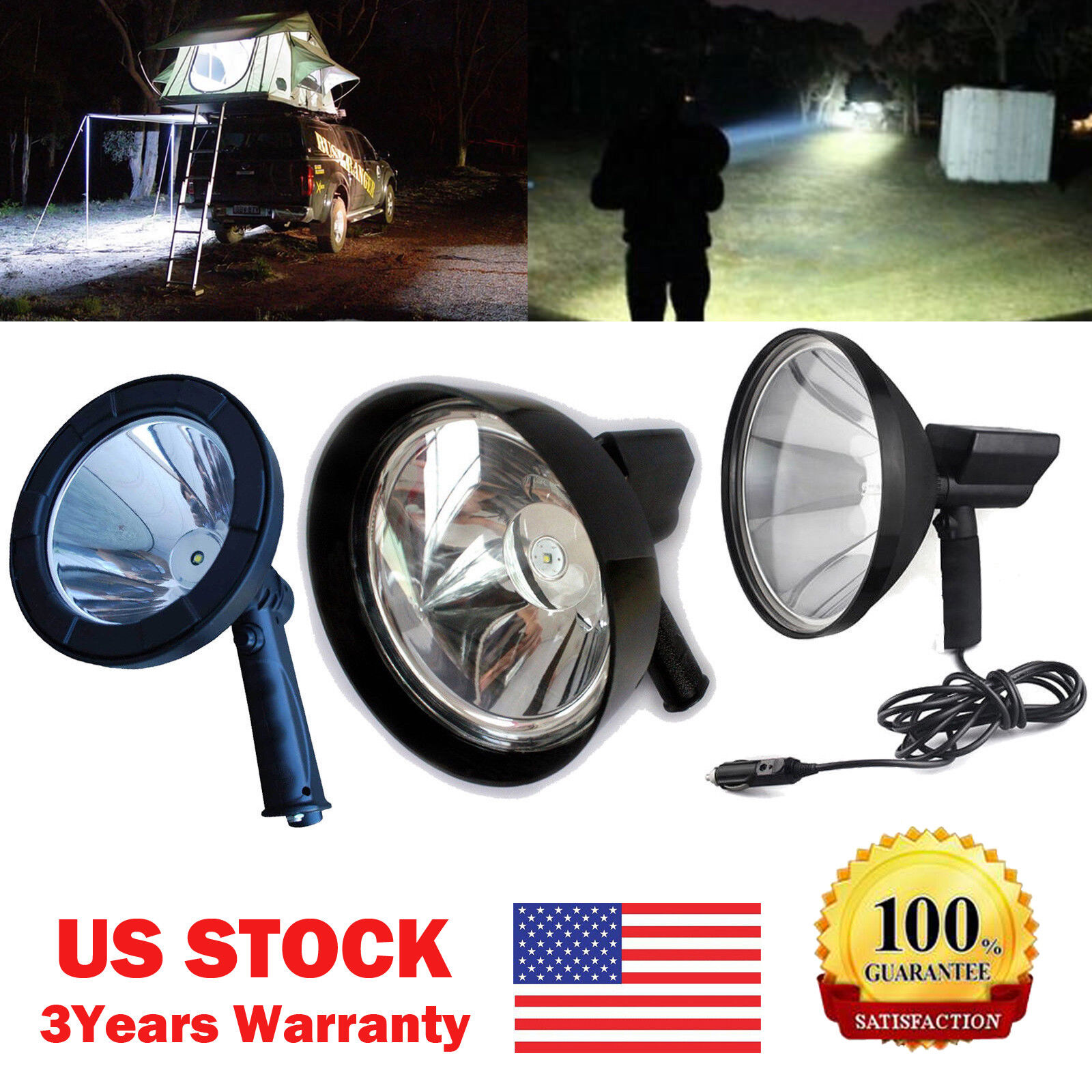 HUNTING 1200W  Waterproof LED HID Spot Light Spotlight Beam Lamp Camping Fishing  presenting all the latest high street fashion