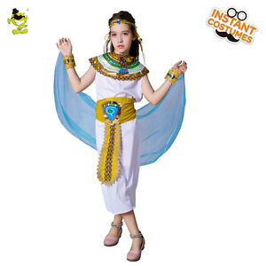 Image is loading Kids-039-Cleopatra-of-Egyptian-Costumes-Girls-Pretty-  sc 1 st  eBay & Kidsu0027 Cleopatra of Egyptian Costumes Girls Pretty Egypt Cosplay ...