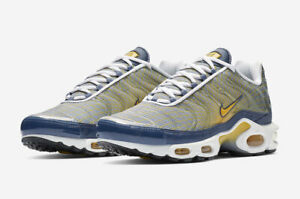 low priced e6d35 70e5d Details about Nike Air Max Plus OG Blue/Yellow Trainers UK 11 **Brand New  In Box**